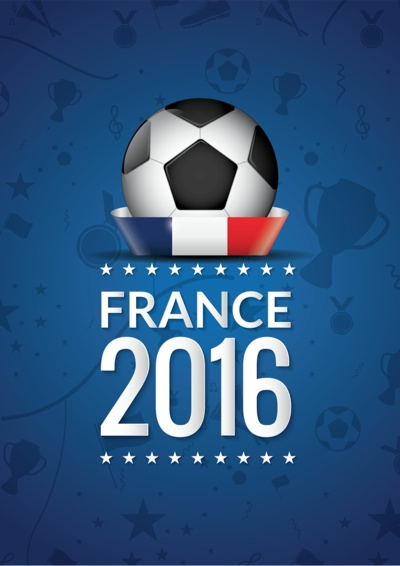 EURO 2016 graphic art poster