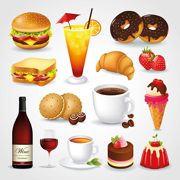 Food vectors