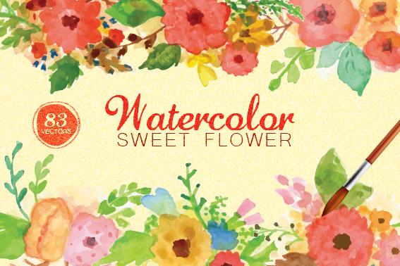 Watercolor Sweet Flower